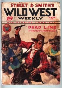 WILD WEST WEEKLY-2/10/1934-PULP-DEAD LINE FR/G