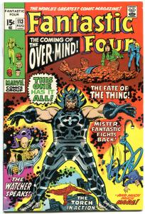 FANTASTIC FOUR #113, VF+, 1st Overmind, John Buscema, 1961,more FF in store, QXT