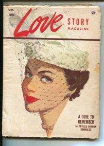 Love Story #4 12/1952--Pin-up girl portrait cover-Editor Peggy Graves-Helen E...
