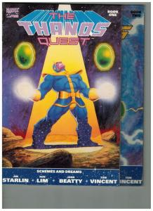 THANOS QUEST 1-2 (1ST PRINTS)  STARLIN classic COMPLETE