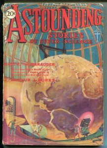 ASTOUNDING STORIES 07/1930-CLAYTON-RARE-SCI-FI PULP-UNIQUE COVER-vg