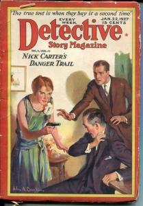 DETECTIVE STORY MAGAZINE-JAN 22 1927-NICK CARTER-CHICHESTER-BUCHANAN-go G/VG
