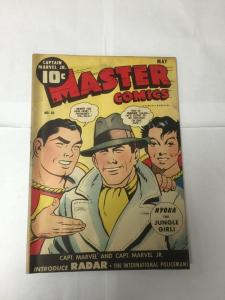 Master Comics 50 1st Radar 3.5 Very Good- Vg- Slight Water