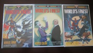 World's Finest Worlds Apart set #1 to #3 all 3 different books 8.0 VG (1990)