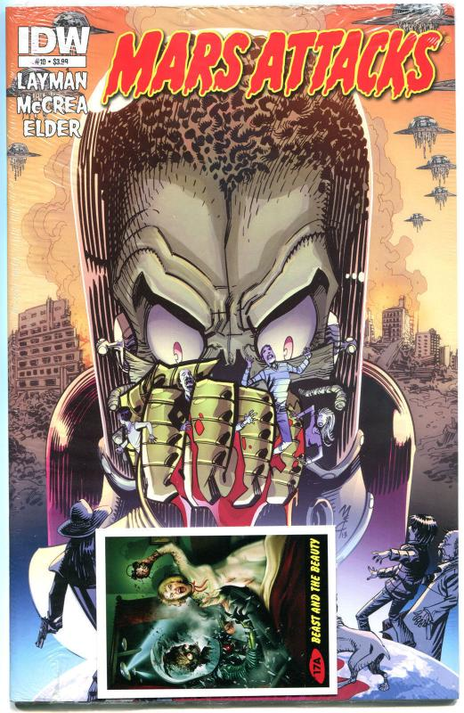 MARS ATTACKS #10, NM, Aliens, Martians, Sci-fi, Death Ray, 2012, sealed w/card