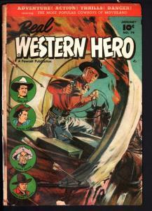 REAL WESTERN HERO COMICS #74-1949-FAWCETT-TOM MIX-HOPALONG CASSIDY-NORM SAU G/VG
