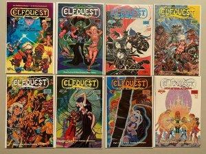 Elfquest Siege at Blue Mountain set:#1-8 WaRP 8 diff books 6.0 FN (1987-'88)
