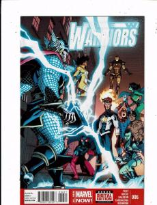 Lot of 6 New Warriors Marvel Comic Books #6 14 15 16 17 20 MS18