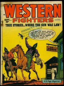 Western Fighters Vol 2 #10 1950- Golden Age- Hooded Bandits VG