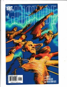 JUSTICE 1 AND 1B  VF/FN  ALEX ROSS ARTWORK.   DC COMICS Save on shipping