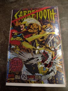 SABRETOOTH #1 In the Red Zone  Chrome Cover. SIGNED BY MARK MCKENNA