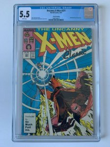 Uncanny X-Men ##221 1st app Mr. Sinister HTF So Much Fun Variant - CGC 5.5