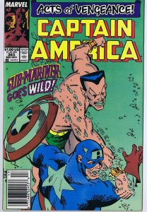 Captain America #365 ORIGINAL Vintage 1989 Marvel Comic Book Sub Mariner