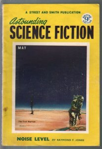 Astounding Science Fiction British Edition 5/1953-sci-fi pulp fiction-VG