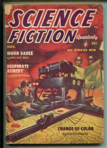 SCIENCE FICTION QUARTERLY11/1954-PULP-KELLY FREAS-SPRAGUE DE CAMP-HARMON-good