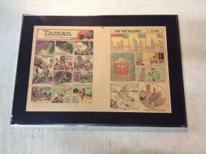 Tarzan Original Newspaper Comic Strip 1942 Atlanta Journal Framed & Matted BNT