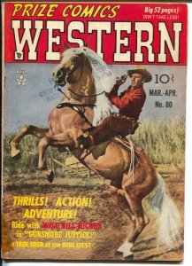 Prize Comics western  #80 1949-Wild Bill Hickok-John Severin-Will Elder-VG