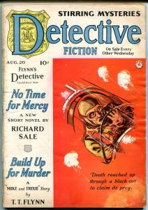 Detective Fiction Weekly Pulp August 20 1941- Richard Sale- TT Flynn VG