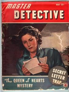MASTER DETECTIVE MAY 1944-G-QUEEN OF HEARTS MYSTERY-PULP-TRUE CRIME G
