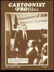 CARTOONIST PROFILES #55-1982-HUBENTHAL-HIRSCHFIELD FN