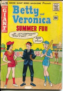 Archie Giant Series #28 1964-Betty & Veronica Summer Fun-swimsuit-G