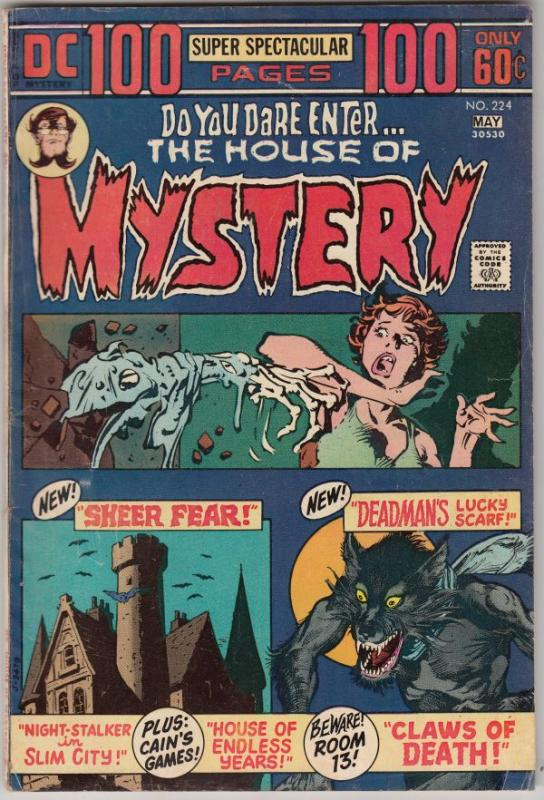 House of Mystery #224 (May-74) FN Mid-Grade