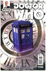 DOCTOR WHO #7 B, NM, 12th, Tardis, 2014, Titan, 1st, more DW in store, Sci-fi