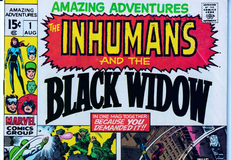 Amazing Adventures(vol.1)#1 InHumans, Black Widow
