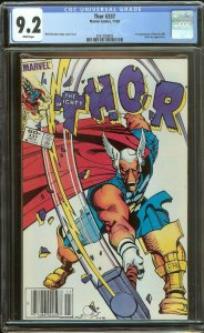 Thor 337 CGC 9.2   1st Beta Ray Bill   Newstand   White Pages