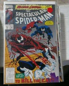 SPECTACULAR  SPIDER-MAN # 201 1993 MARVEL maximum carnage pt 5 venom+black cat