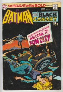 Brave and the Bold, The #91 (Sep-70) VF High-Grade Batman, Black Canary