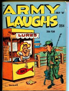 Army Laughs 7/1967-CrestwoodBill Wenzel-cartoons-gags-jokes-VF-