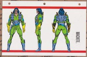 Official Handbook of the Marvel Universe Sheet- Machete