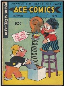 Ace Comics #70 (David McKay Publications, 1943) VG/FN