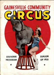 Gainesville Community Circus Program Book 1951-Batty Ward-Will Rogers-circus inf