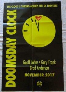 DOOMSDAY CLOCK Promo poster, 24 x 36, 2017, DC,  SUPERMAN, FLASH Unused   019