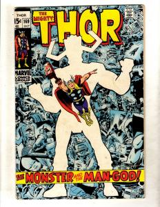 Thor # 169 FN- Marvel Comic Book Odin Loki Avengers Sif Asgard Warriors 3 FM4