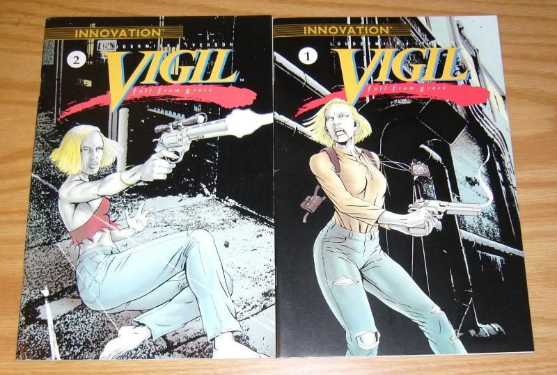 Vigil: Fall From Grace #1-2 VF/NM complete series - innovation comics set lot