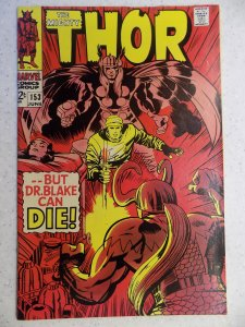 THE MIGHTY THOR # 153 MARVEL GODS JOURNEY ACTION ADVENTURE