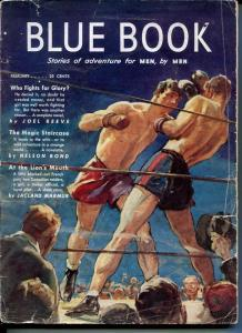 BLUE BOOK PULP-FEB 1942-FR/G-STOOPS COVER-BEDFORD-JONES-BOND-REEVE FR/G