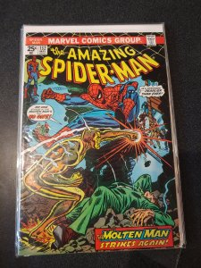 The Amazing Spider-Man #132 Molten Man - 1974 Original