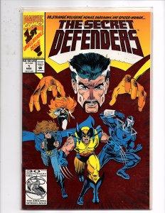 Marvel Comics Secret Defenders #1 Foil Enhanced Cover Wolverine Spider-Woman