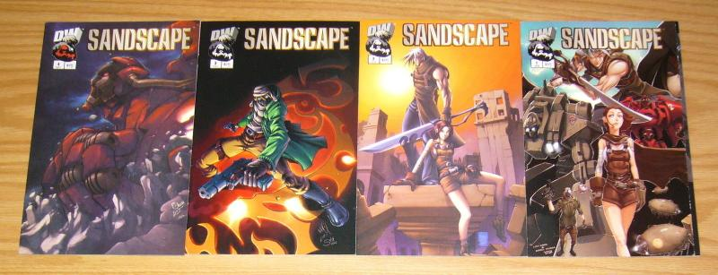 Sandscape #1-4 VF/NM complete series - dreamwave comics set lot 2 3