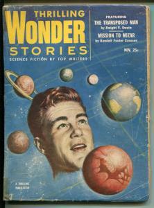THRILLING WONDER STORIES 11/1953-SCI-FI PULP-WALTER POPP-fr/good