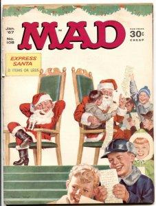 MAD Magazine #108 1967- Santa / Christmas cover G