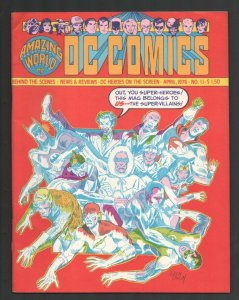 Amazing World of DC Comics #11 1976-Special Super-Villains issue-Dick Dillin ...