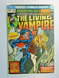 Fear #20 Morbius the Living Vampire! water damage 3.0 (1974)
