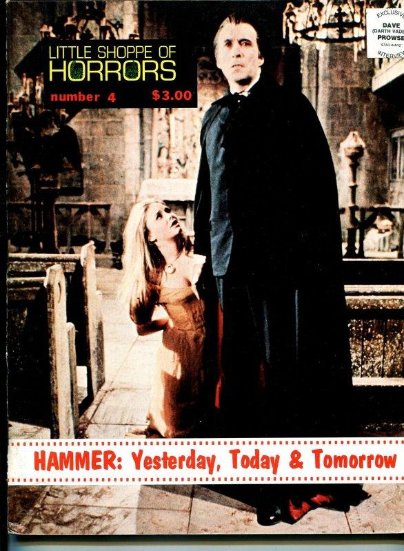 Little Shoppe of Horrors #4 1978-Hammer Films-Christopher Lee-Darth Vader-FN