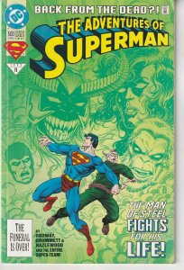 Adventures of Superman(Vol. 1) # 500(Newstand) Reign of the Supermen Prologue