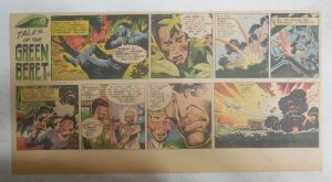 Tales Of The Green Berets by Joe Kubert from 12/3/1967 Size: 7.5 x 15 inches